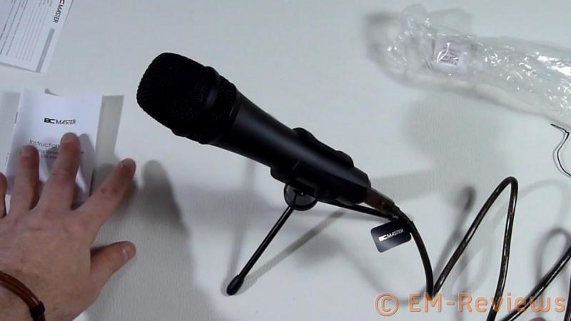 DM35U(Negro) etc BC Master Micr/ófono USB Din/ámico Cardioide Met/álico Profesional de Grabaci/ón con Tr/ípode para PC Mac Windows Estudio Cantar Gaming Youtube