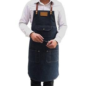 delantal de trabajo con bolsillos