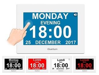 Opinión: iGuerburn Reloj Parlante Digital con Calendario para Ciegos.