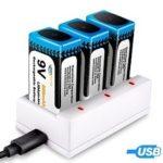 Baterías Recargables de Litio 9V