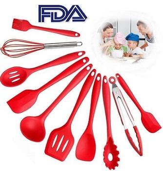 bsw utensilios de cocina de silicona set de 10 piezas